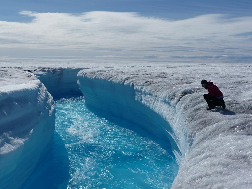 Gletsjer flod